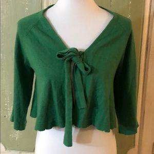 Anthropologie sparrow green sweater size medium